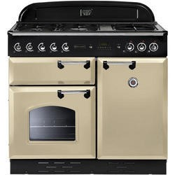 Rangemaster CLAS100NGFCRC 111880 Classic 100cm Natural Gas Range Cooker Cream And Chrome