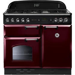 Rangemaster CLAS100NGFCYC 111860 Classic 100cm Natural Gas Range Cooker Cranberry And Chrome