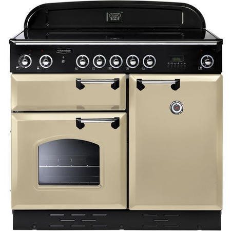 Rangemaster CLAS100EICY/C 106550 Classic 100cm Electric Range Cooker With Induction Hob Cranberry Ch