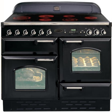 Rangemaster 68260 Classic 110cm Electric Range Cooker With Ceramic Hob - Black And Chrome