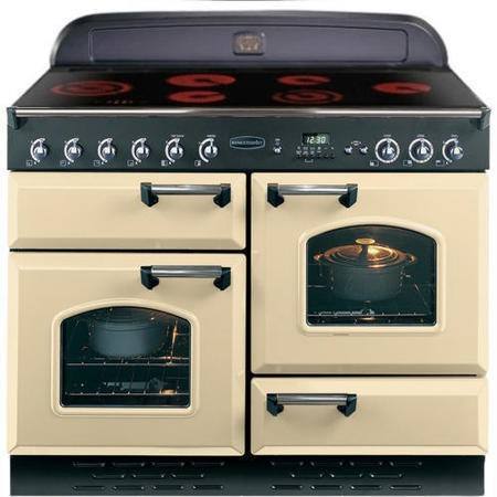 Rangemaster 68280 Classic 110cm Electric Range Cooker With Ceramic Hob - Cream And Chrome