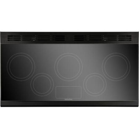 Rangemaster 87510 Classic 110cm Electric Range Cooker With Induction Hob - Black And Chrome