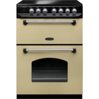Rangemaster 10734 Classic 60cm Electric Cooker With Ceramic Hob Cream And Chrome