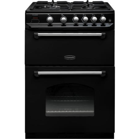 Rangemaster CLAS60NGFBLC Classic 60cm Double Oven Gas Cooker - Black