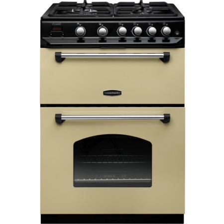 Rangemaster 10732 Classic Double Oven 60cm Gas Cooker Cream And Chrome