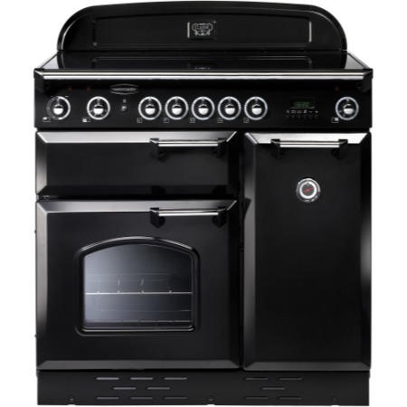 Rangemaster 68350 Classic 90cm Electric Range Cooker With Ceramic Hob - Black And Chrome