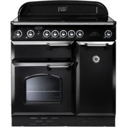 Rangemaster 87640 Classic 90cm Electric Range Cooker With Induction Hob - Black And Chrome
