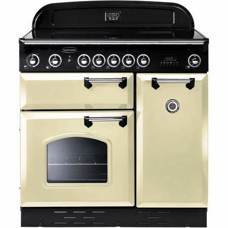 Rangemaster 68370 Classic 90cm Electric Range Cooker With Ceramic Hob - Cream And Chrome