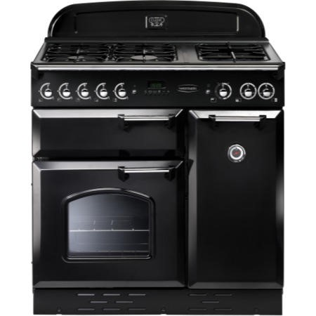 Rangemaster 73430 Classic 90cm Natural Gas Range Cooker in Black & Chrome