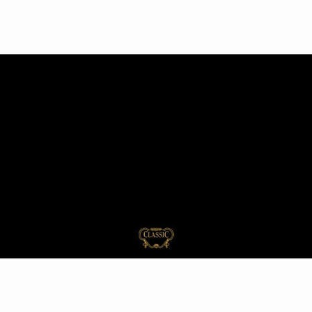 Rangemaster 57380 Classic 110cm Wide Splashback - Black With Brass Graphics