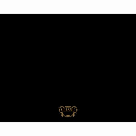 Rangemaster 57370 Classic 90cm Wide Splashback - Black With Brass Graphics
