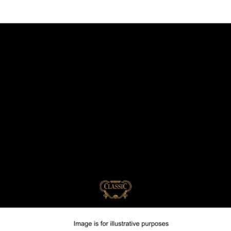 GRADE A2  - Rangemaster 63150 Classic 90cm Wide Splashback - Black With Chrome Graphics