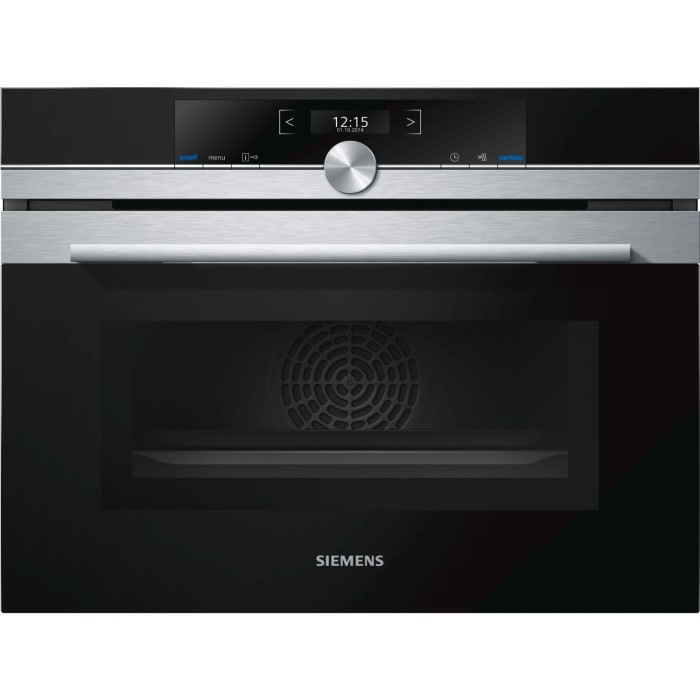 Siemens CM633GBS1B 1000W 45L Built-in Combination Microwave Oven ...