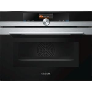 Siemens CM656GBS6B iQ700 Stainless Steel Built-in Combination Microwave Oven With Catalytic Liners And TFT touchDisplay