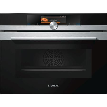 Siemens CM678G4S6B iQ700 Stainless Steel Built-in Combination Microwave Oven With Pyrolytic Cleaning And TFT touchDisplay