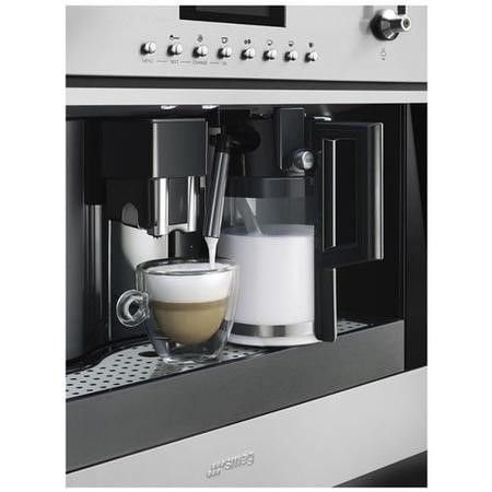 Smeg CMS6451X CMS645X Classic Automatic Built-in Bean to Cup Coffee Machine Stainless Steel And Dark Glass