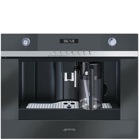 Smeg CMSC451NE Linea Compact Fully Automatic Built-in Coffee Machine Black