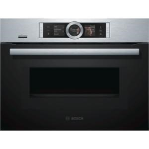 Bosch CNG6764S6B Serie  8 Compact Oven With Microwave And Added Steam Brushed Steel
