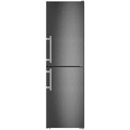 Liebherr CNbs3915 Comfort 201x60cm Extra Efficient NoFrost Freestanding Fridge Freezer BlackSteel