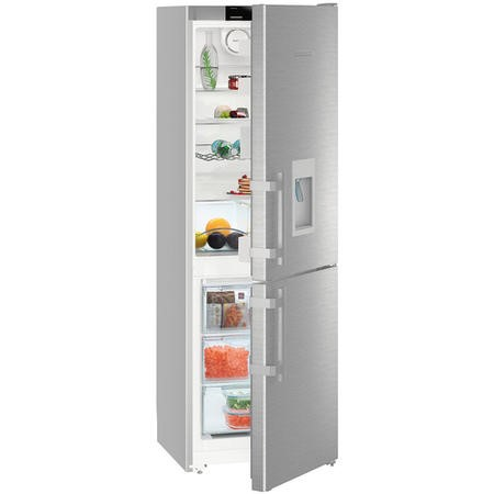 Liebherr CNef3535 Comfort 182x60cm Super Efficient NoFrost Freestanding Fridge Freezer - SmartSteel Doors
