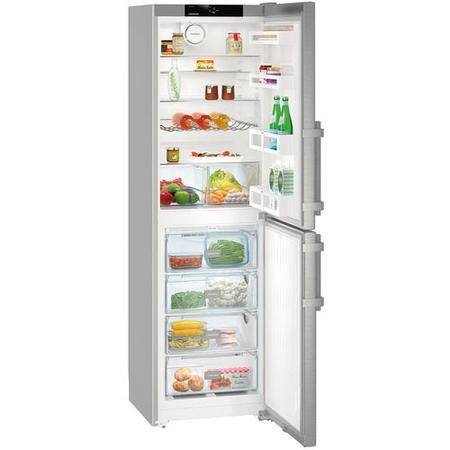 Liebherr CNef3915 Comfort 201x60cm Extra Efficient NoFrost Freestanding Fridge Freezer SmartSteel Doors