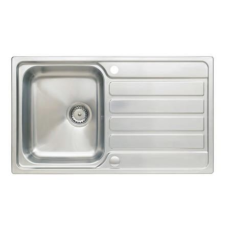 Stainless Steel 1 Bowl Reversible Kitchen Sink 860x500mm - Taylor & Moore