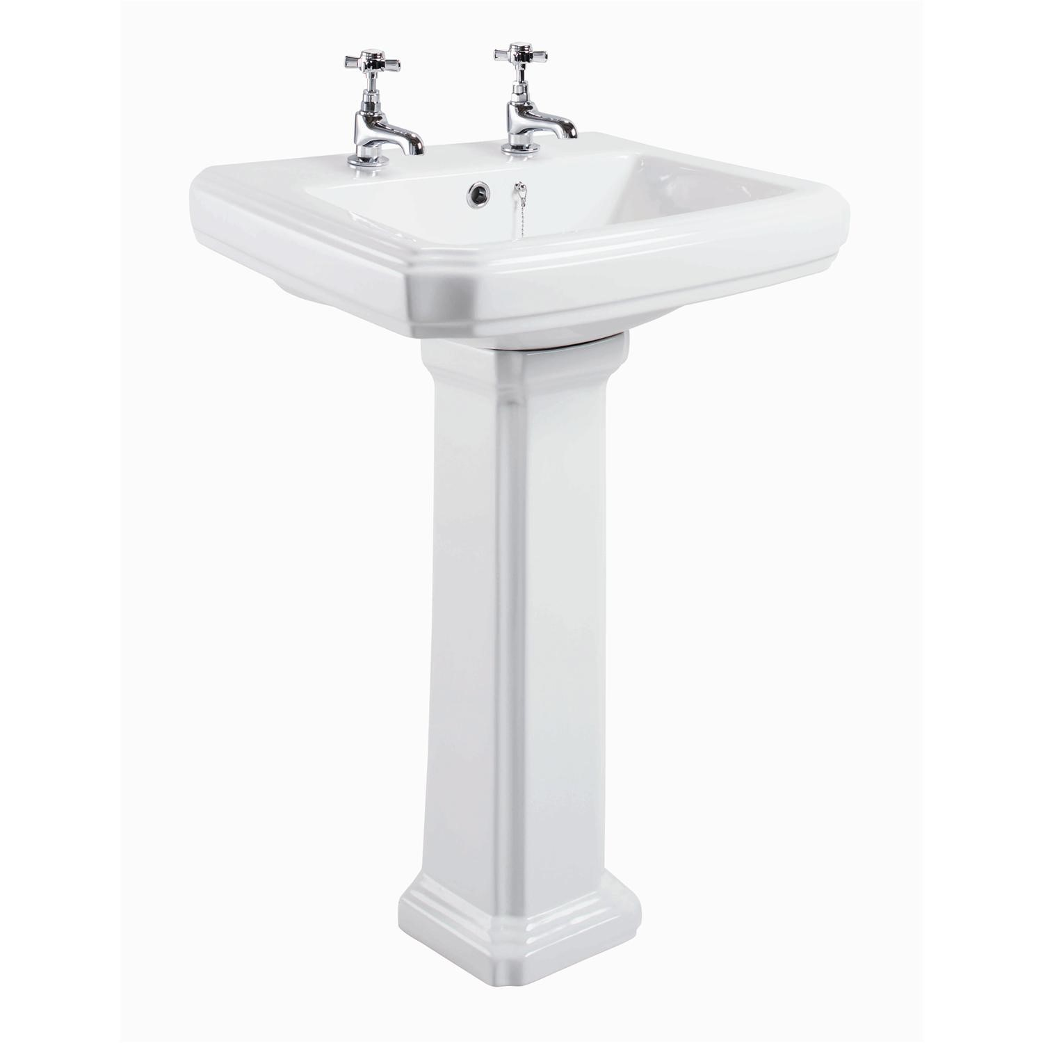 Taylor U0026amp; Moore Traditional Pedestal Sink   2 Tap Holes
