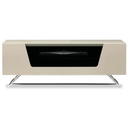 Alphason Chromium Ivory high gloss TV Cabinet