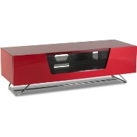 Alphason CRO2-1200CB-RED Chromium 2 TV Cabinet for up to 55