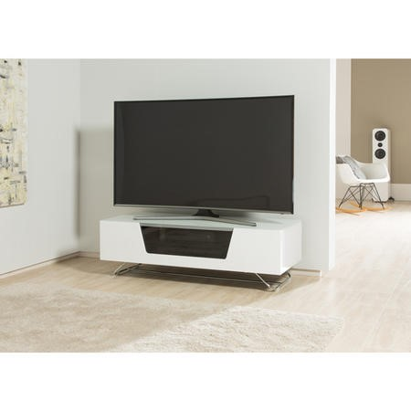 "Alphason CRO2-1200CB-WHT Chromium 2 TV Cabinet for up to 55"" TVs - White"