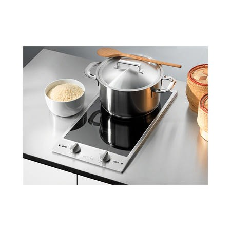 Miele CS1212-1I 29cm Two Zone Stainless Steel Framed Induction Hob