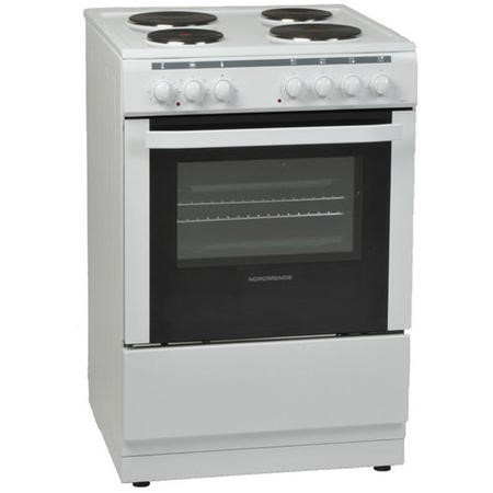 Nordmende CSE61WH Electric Single Cavity White Freestanding 60cm Cooker with Solid Plates