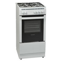 Nordmende CSG51LPGWH Gas Single Cavity LPG Jets Freestanding White 50cm Cooker