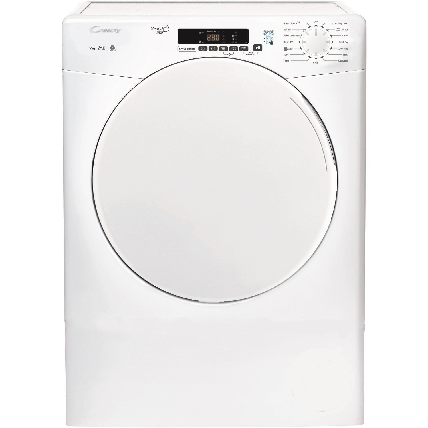 Candy CSV9LF Free Standing 9kg Vented Tumble Dryer White.