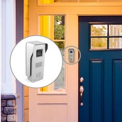 electrIQ Wifi Video Doorbell with 8GB Memory and Unlock Function