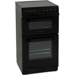 NordMende CTEC50BK Electric Twin Cavity Black 50cm Cooker With Ceramic Top