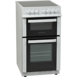 NordMende CTEC50WH Electric Twin Cavity White 50cm Cooker With Ceramic Top