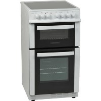 Nordmende CTEC51WH 50cm Electric Twin Cavity Cooker with Ceramic Hob - White Best Price, Cheapest Prices