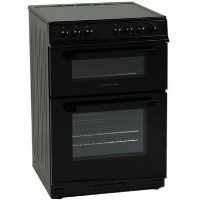 NordMende CTEC61BK Electric Twin Cavity Black Freestanding 60cm Cooker with Ceramic Top Best Price, Cheapest Prices