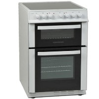 NordMende CTEC61WH Electric Twin Cavity White Freestanding 60cm Cooker with Ceramic Top Best Price, Cheapest Prices