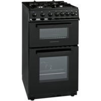 NordMende CTG51LPGBK Gas Twin Cavity LPG Gas Black 50cm Cooker