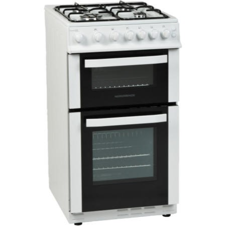 NordMende CTG51LPGWH 50cm Twin Cavity LPG Gas Cooker White