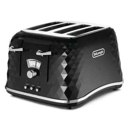 Delonghi CTJ4003.BK Brillante 4 Slice Toaster - Black