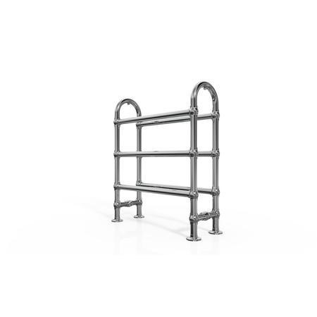 Taylor & Moore Traditional Chrome Freestanding Towel Rail - H778 x W683mm