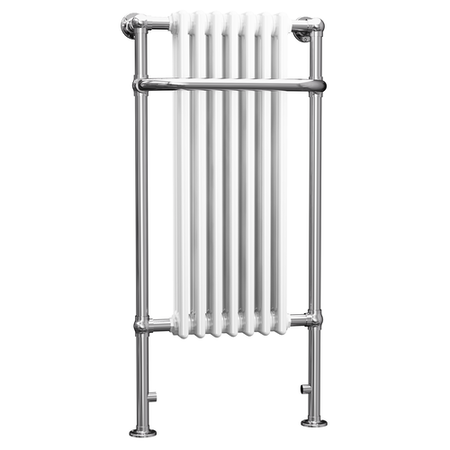 Taylor & Moore White Traditional Heated Towel Rail Radiator - 1130 x 553mm