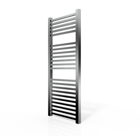 Chrome Straight Towel Rail Radiator with Square Rails - 1200 x 500mm