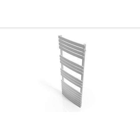 Segrino Vertical Towel Radiator with Flat Profile Heated Rails - 1200 x 500mm