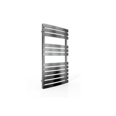Curved Chrome Bathroom Towel Radiator with Flat Rails - 800 x 500mm