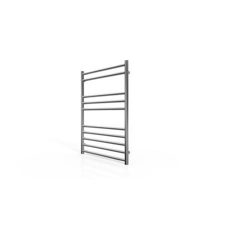 Chrome Straight Towel Rail Radiator with Round Rails - 800 x 600mm