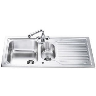 Smeg CUR150 Cucina 1.5 Bowl Reversible Drainer Stainless Steel Sink